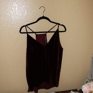 Abercombie & Fitch burgundy velvet blouse